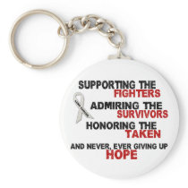 Supporting Admiring Honoring 3 LUNG CANCER Keychain