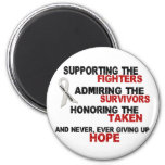 Supporting Admiring Honoring 3 LUNG CANCER Refrigerator Magnets