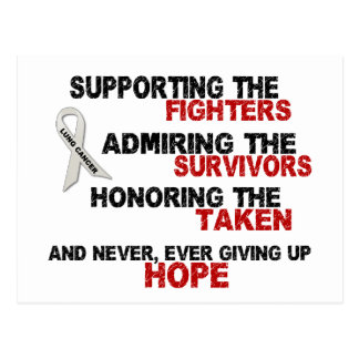 Supporting Admiring Honoring 3 LUNG CANCER Postcard