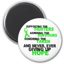 Supporting Admiring Honoring 3 LYMPHOMA 2 Inch Round Magnet