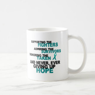 Supporting Admiring Honoring 3 OVARIAN CANCER Coffee Mug