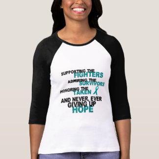 Supporting Admiring Honoring 3 OVARIAN CANCER T-Shirt