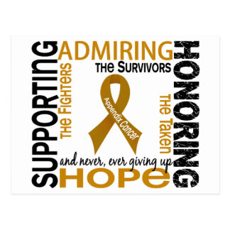 Supporting Admiring Honoring 9 Appendix Cancer Postcard