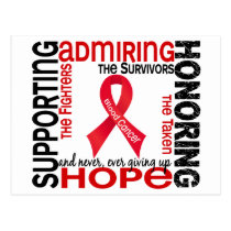 Supporting Admiring Honoring 9 Blood Cancer Postcard
