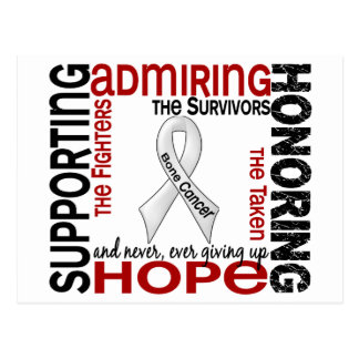 Supporting Admiring Honoring 9 Bone Cancer Postcard