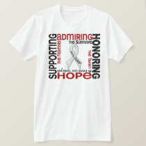 Supporting Admiring Honoring 9 Bone Cancer T-Shirt