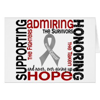Supporting Admiring Honoring 9 Brain Cancer Cards