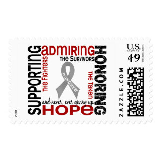 Supporting Admiring Honoring 9 Brain Cancer Postage Stamp