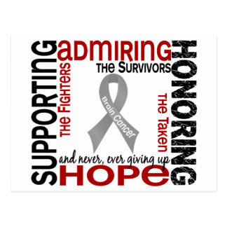 Supporting Admiring Honoring 9 Brain Cancer Postcard