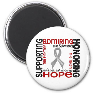 Supporting Admiring Honoring 9 Brain Tumor Refrigerator Magnets