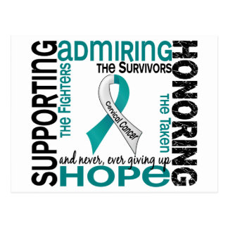 Supporting Admiring Honoring 9 Cervical Cancer Postcard