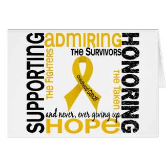 Supporting Admiring Honoring 9 Childhood Cancer Card