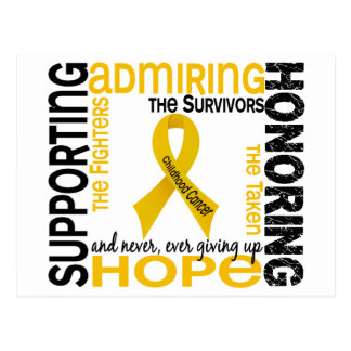 Supporting Admiring Honoring 9 Childhood Cancer Postcard