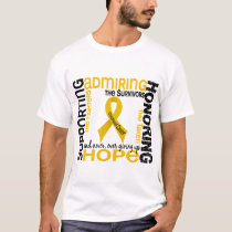Supporting Admiring Honoring 9 Childhood Cancer T-Shirt