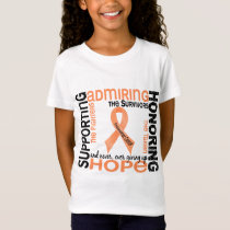 Supporting Admiring Honoring 9 Endometrial Cancer T-Shirt