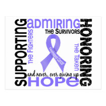 Supporting Admiring Honoring 9 Esophageal Cancer Postcard