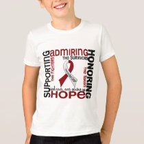 Supporting Admiring Honoring 9 Head And Neck Cance T-Shirt