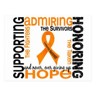 Supporting Admiring Honoring 9 Leukemia Post Card