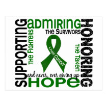 Supporting Admiring Honoring 9 Liver Cancer Postcard