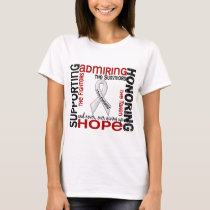 Supporting Admiring Honoring 9 Mesothelioma T-Shirt