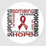Supporting Admiring Honoring 9 Multiple Myeloma Classic Round Sticker