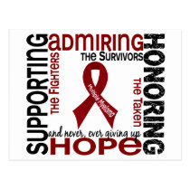 Supporting Admiring Honoring 9 Multiple Myeloma Postcard
