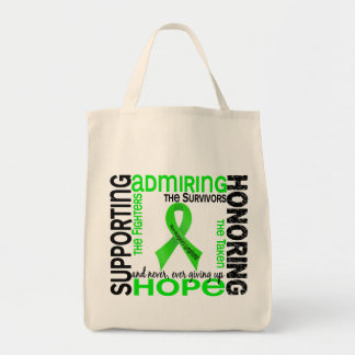 Supporting Admiring Honoring 9 Non-Hodgkins Lympho Grocery Tote Bag