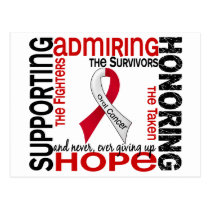 Supporting Admiring Honoring 9 Oral Cancer Postcard