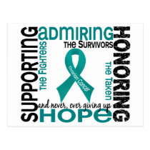 Supporting Admiring Honoring 9 Ovarian Cancer Postcard