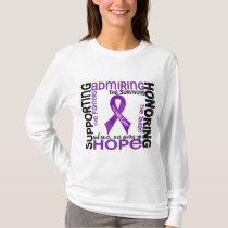 Supporting Admiring Honoring 9 Pancreatic Cancer T-Shirt