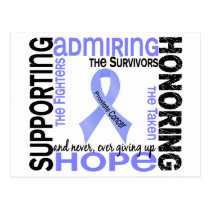 Supporting Admiring Honoring 9 Prostate Cancer Postcard