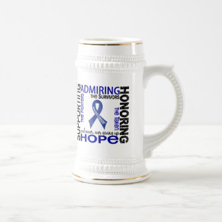 Supporting Admiring Honoring 9 Rectal Cancer 18 Oz Beer Stein