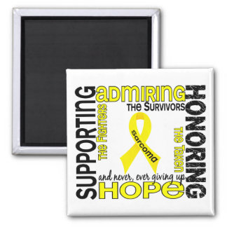Supporting Admiring Honoring 9 Sarcoma 2 Inch Square Magnet