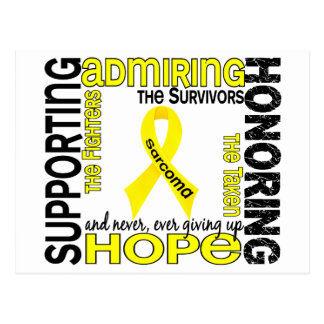 Supporting Admiring Honoring 9 Sarcoma Postcard
