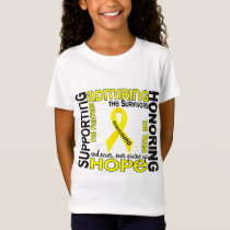Supporting Admiring Honoring 9 Sarcoma T-Shirt