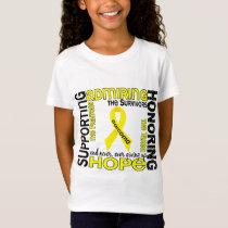Supporting Admiring Honoring 9 Sarcoma T-Shirt