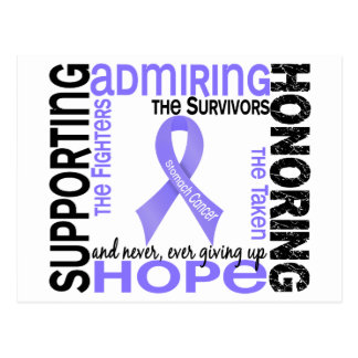 Supporting Admiring Honoring 9 Stomach Cancer Postcard