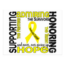 Supporting Admiring Honoring 9 Testicular Cancer Postcard