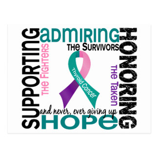 Supporting Admiring Honoring 9 Thyroid Cancer Postcard