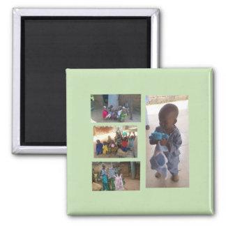 Supporting Batti Village Children 2 Inch Square Magnet