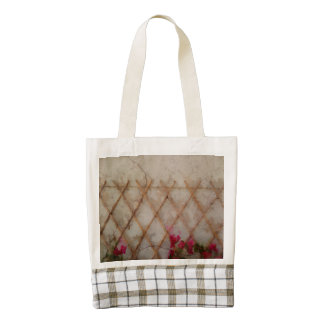 Supporting beautiful flowers zazzle HEART tote bag