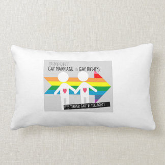 Supporting Gay coupples Throw Pillow