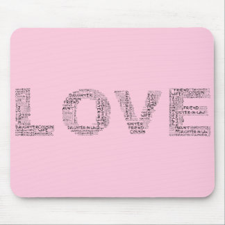 Supporting Loved Ones (Black Text) Mouse Pad
