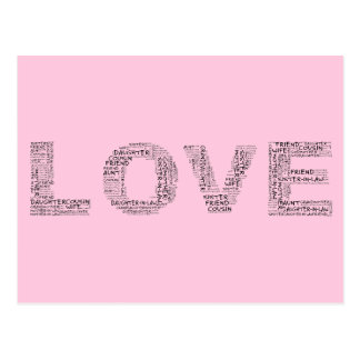 Supporting Loved Ones (Black Text) Postcard