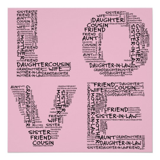 Supporting Loved Ones (Black Text) Poster