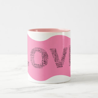 Supporting Loved Ones (Black Text) Two-Tone Coffee Mug