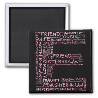 Supporting Loved Ones (Letter E - Part of Set) 2 Inch Square Magnet