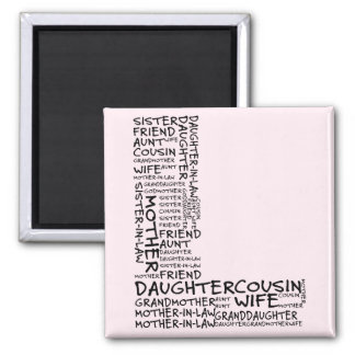 Supporting Loved Ones (Letter L - Part of Set) 2 Inch Square Magnet