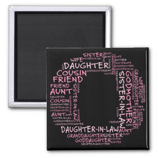 Supporting Loved Ones (Letter O - Part of Set) 2 Inch Square Magnet