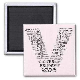 Supporting Loved Ones (Letter V - Part of Set) Refrigerator Magnets